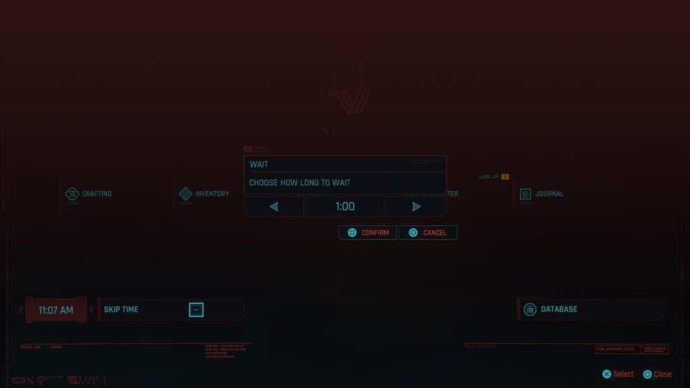cyberpunk 2077 skip time