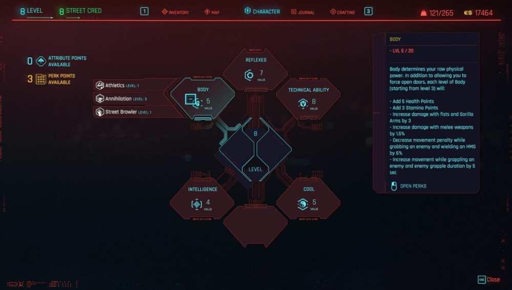 cyberpunk 2077 6th attribute