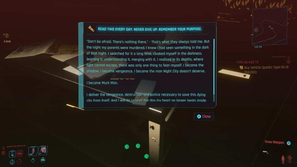 cyberpunk 2077 batmobile easter egg