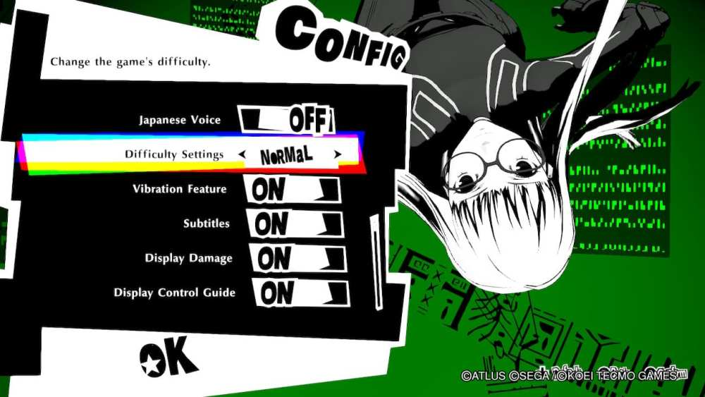 persona 5 strikers change difficulty