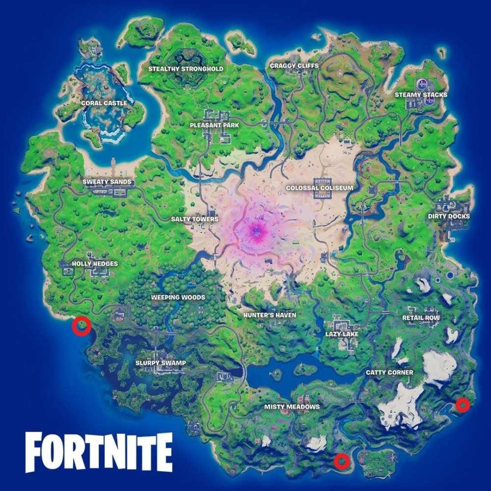 fortnite stone statue locations, week 9 challenge