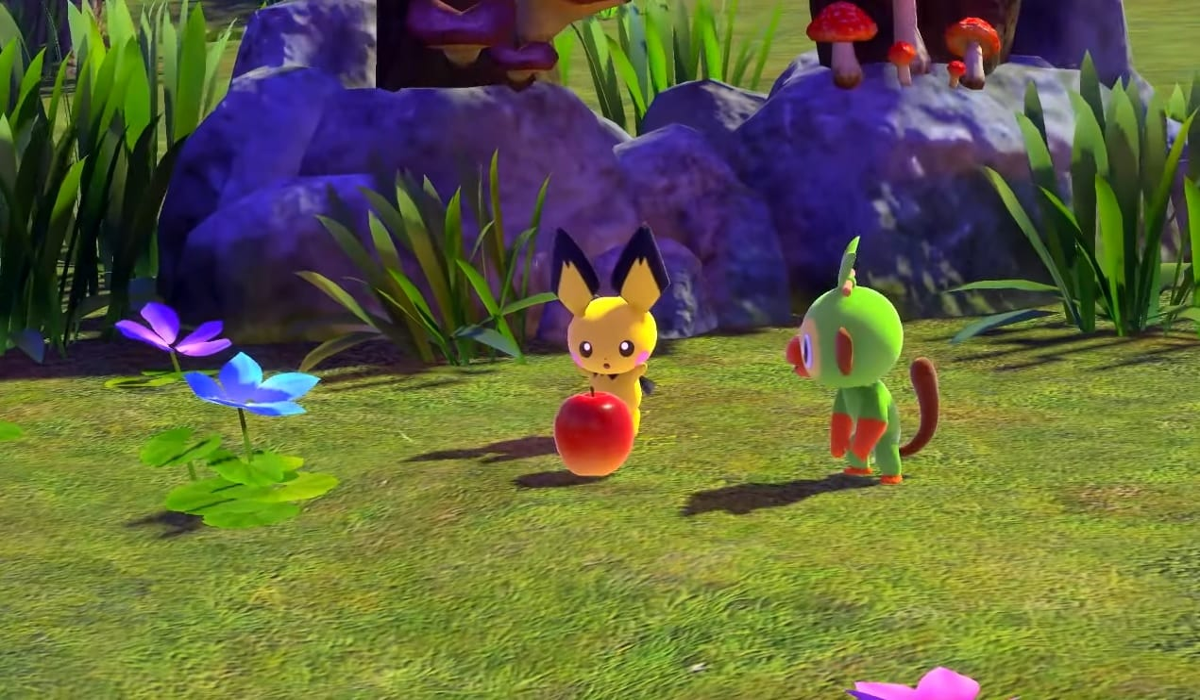 new pokemon snap, apple, fluffruit