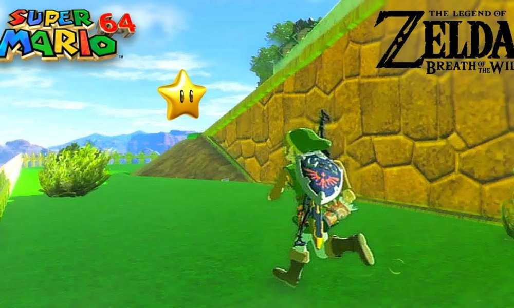 We Really Want To Play This Super Mario 64 in Breath of the Wild Mod