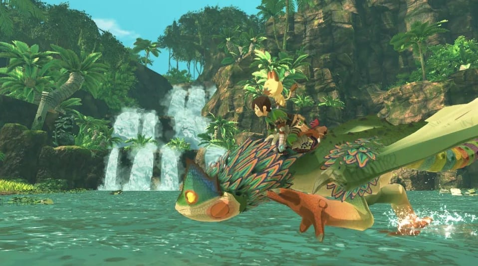 Adventuring in Monster Hunter Stories 2 Wings of Ruin