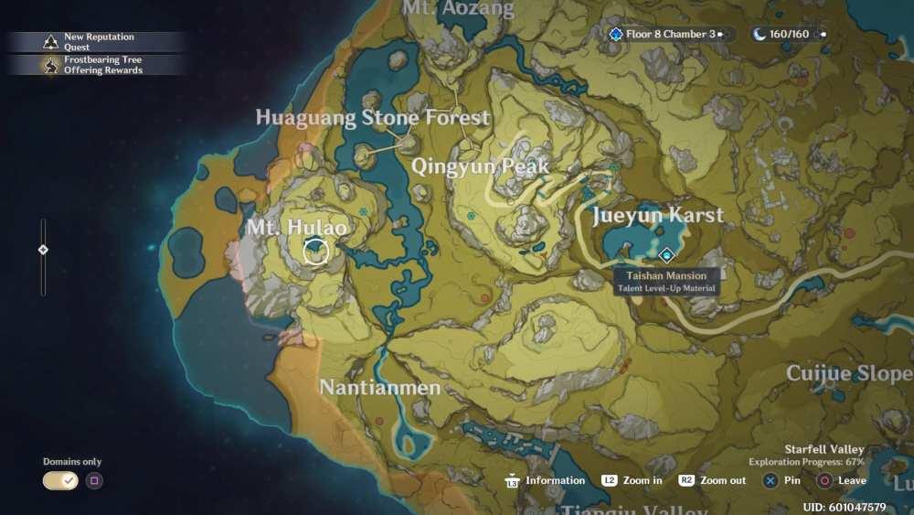 Genshin Impact Cor Lapis Map