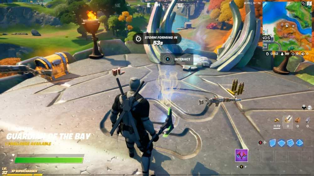 fortnite play spire's message at guardian outpost