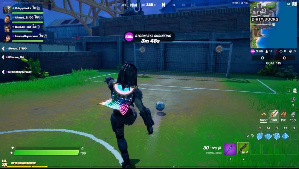 score a goal soccer ball fortnite