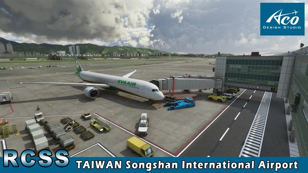 Microsoft Flight Simulator Taipei Songshan Airport in Taiwan Released