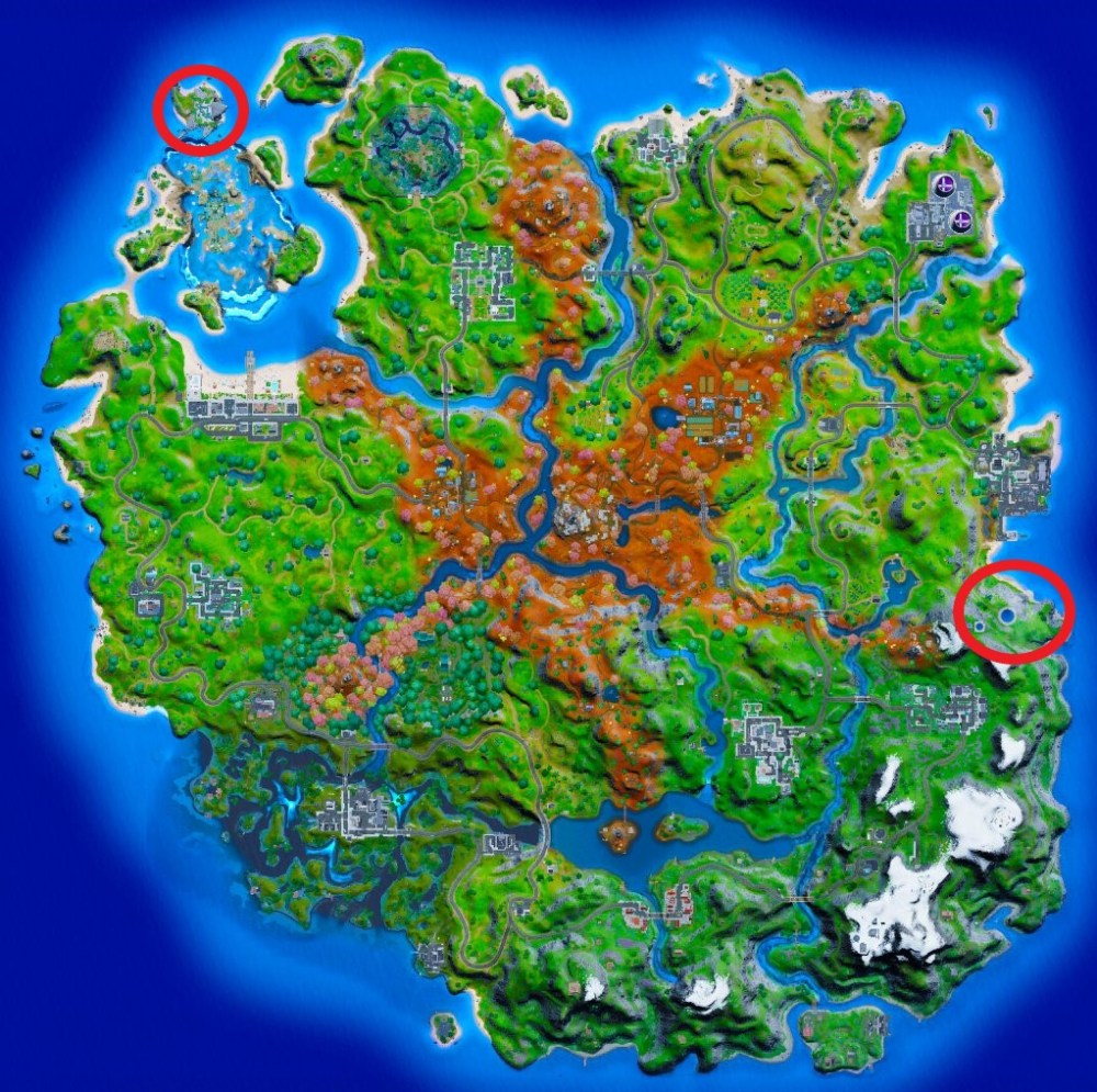 fortnite shadow ghost ruins locations