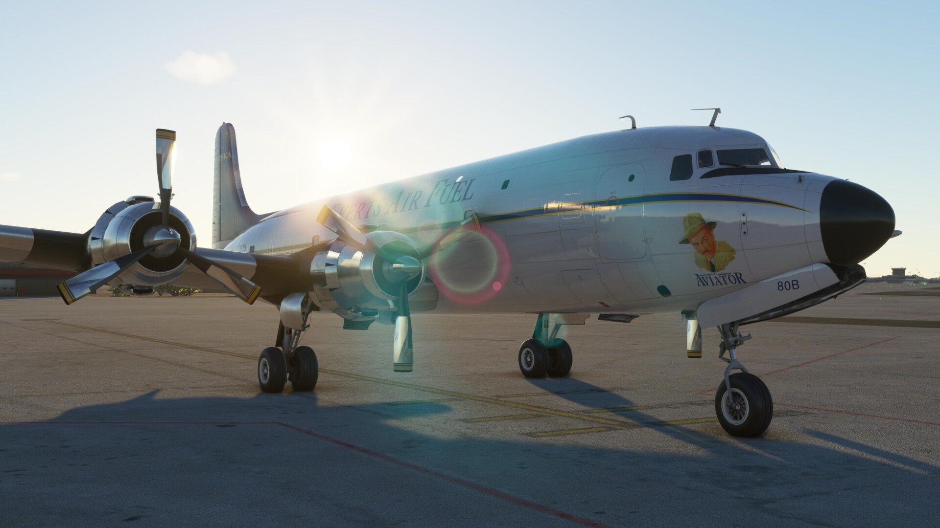 Microsoft Flight Simulator DC6 Everts Air