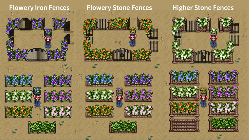 flowery vine fences