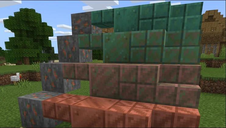 minecraft copper oxidation