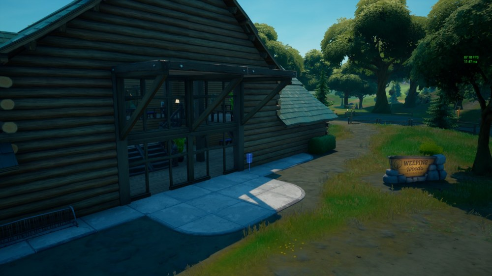 where to place fortnite missing person signs in weeping woods