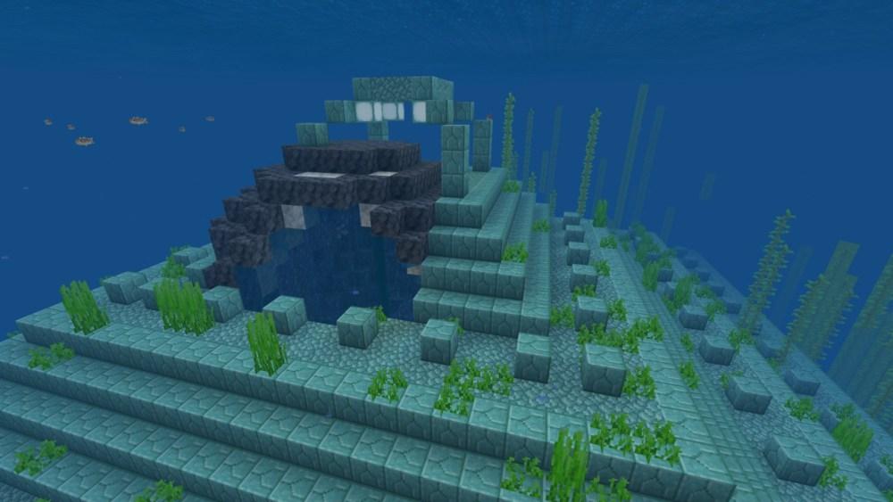 Amethyst geode in ocean monument