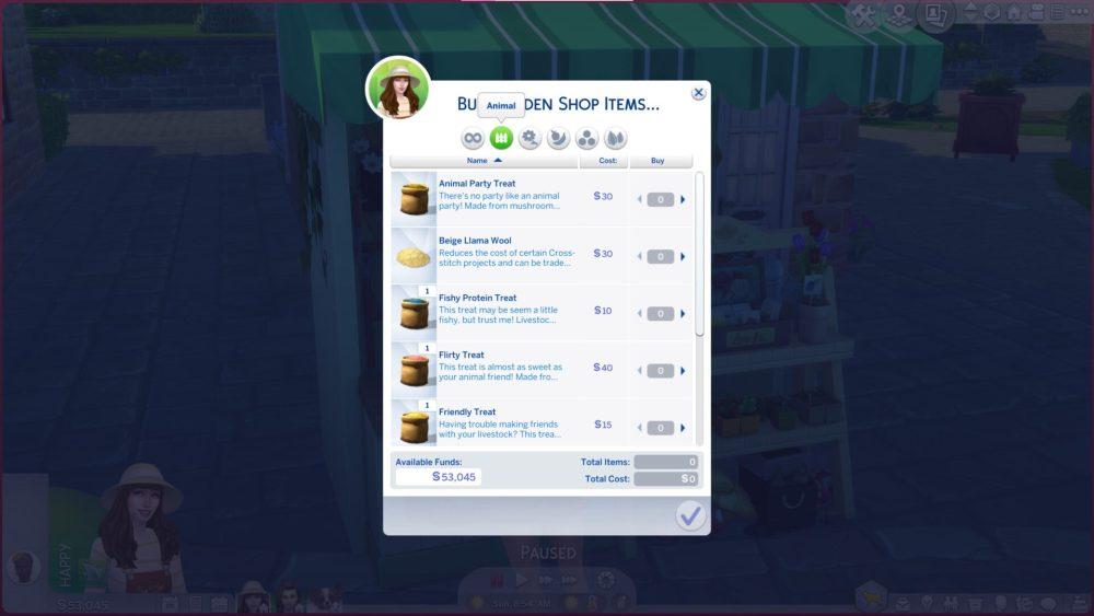 Sims 4 Buy Animal Treats