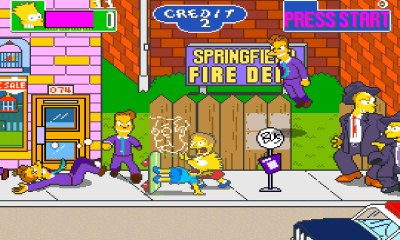 Bart from The Simpsons in the original 1991 arcade game