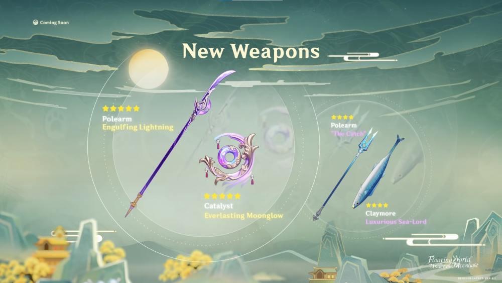 Genshin Impact 2.1 Weapons