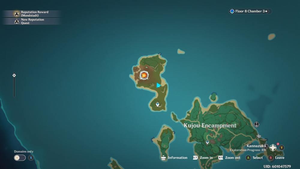Genshin Impact Pyro Hypostasis Map