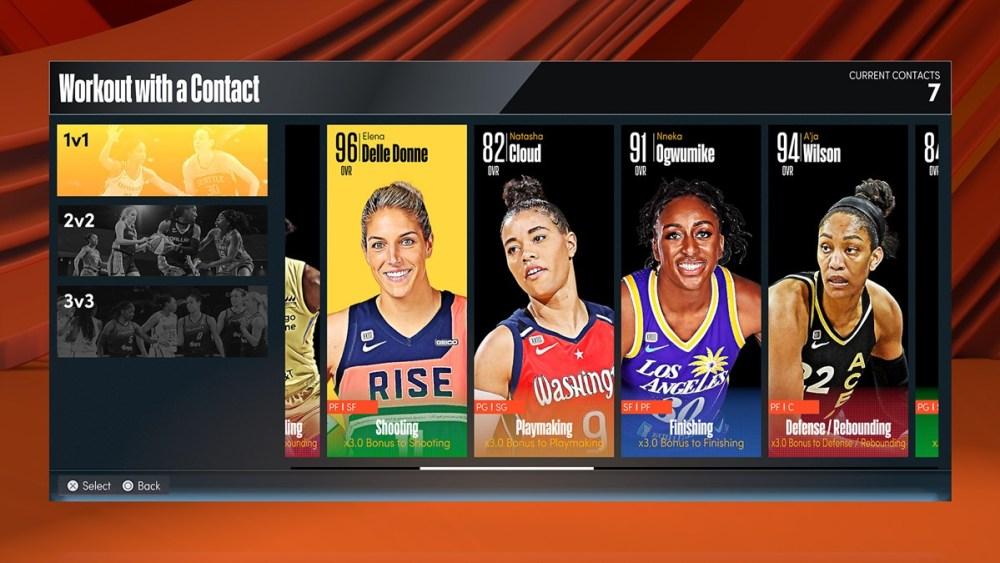 NBA 2K22 WNBA Contact Star