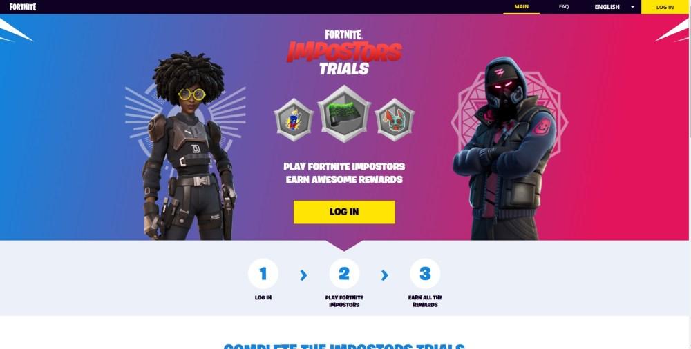 fortnite impostors trials rewards