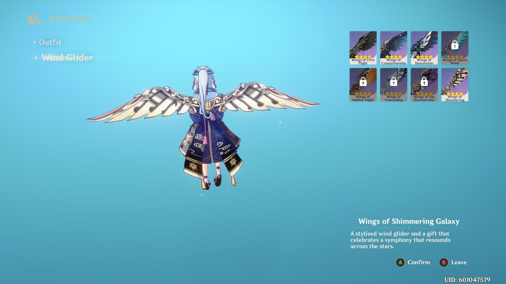 Genshin Impact Anniversary Glider