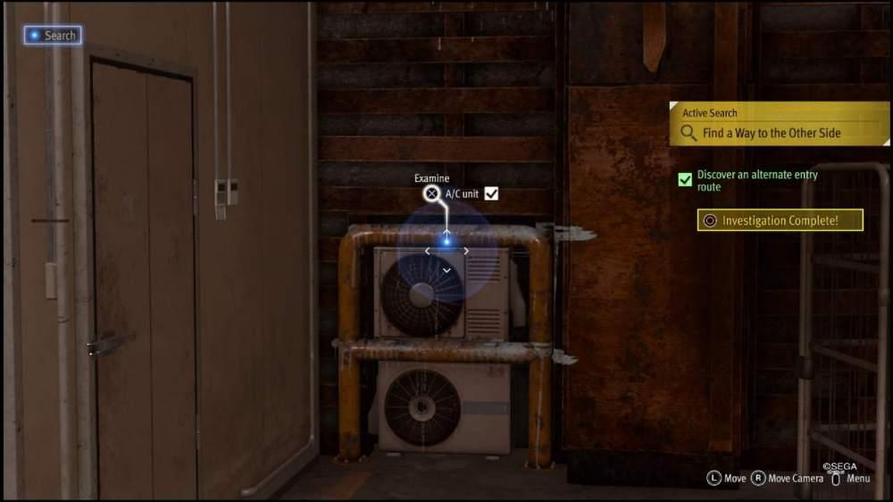 a/c unit, Lost Judgment, guide, warehouse door