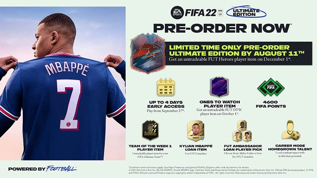 fifa 22 ultimate edition 4600 fifa points