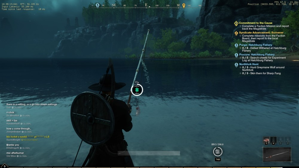 new world fishing, how to reel fish in new world