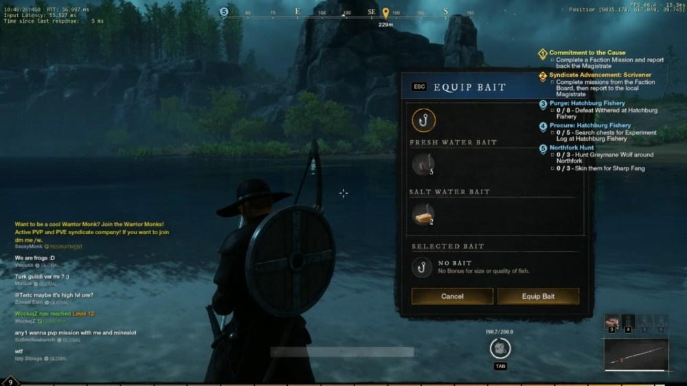 new world fishing bait