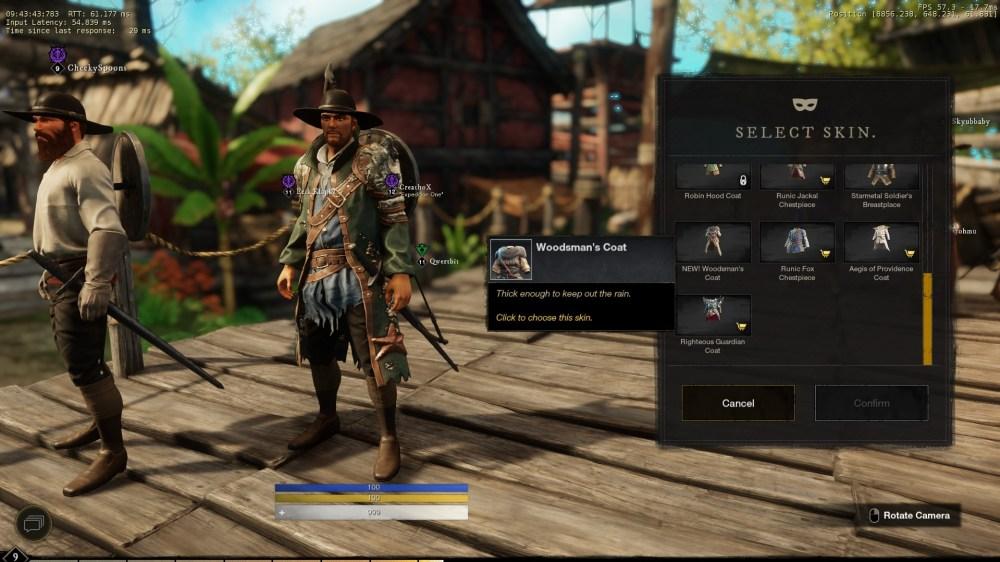 new world woodsman skins