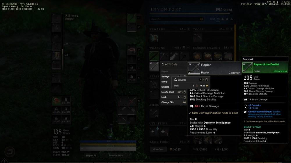 new world salvage items