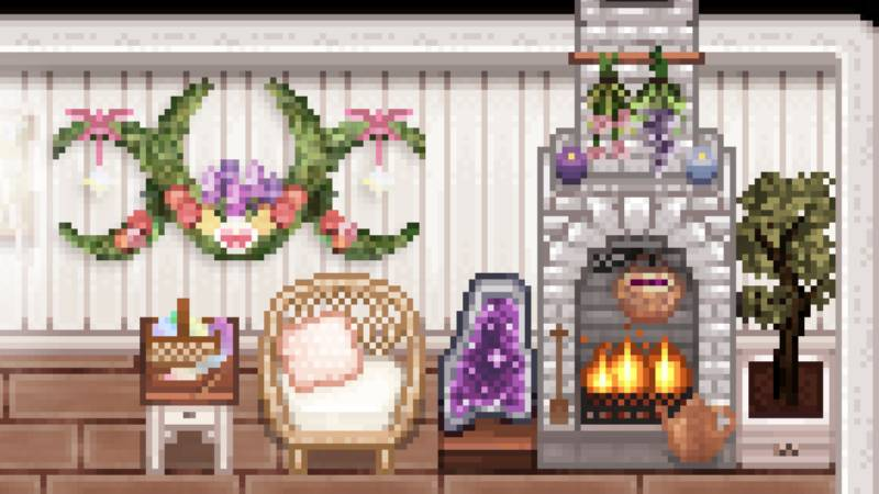 seasonal fireplace