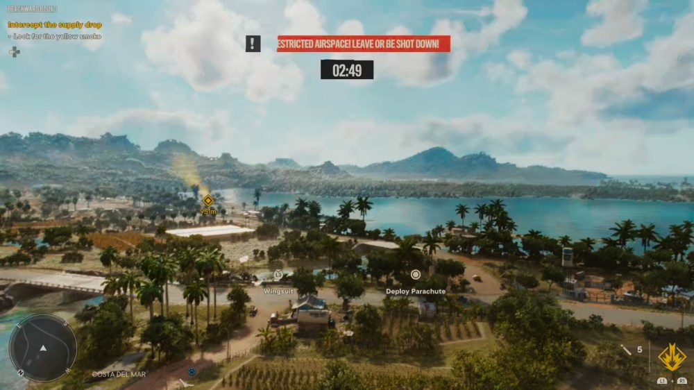 using the far cry 6 wingsuit