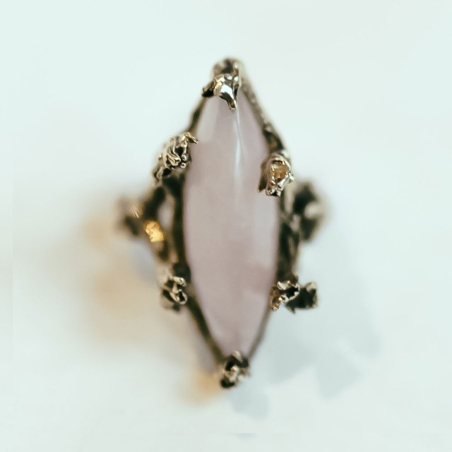Lavender Marquis Ring