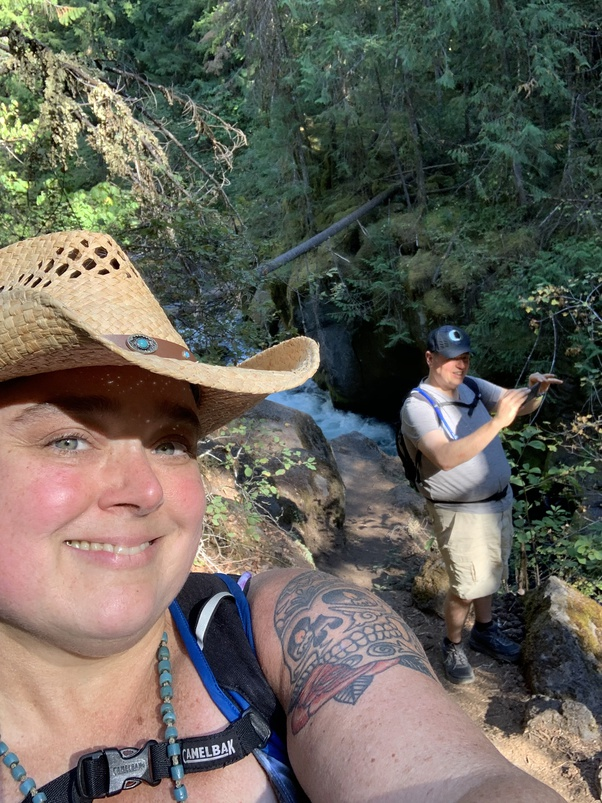What is a Twin Flame Soul Union? Michelle and Justin at Toketee Falls, September 2020.