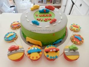 Autotaart & cupcakes
