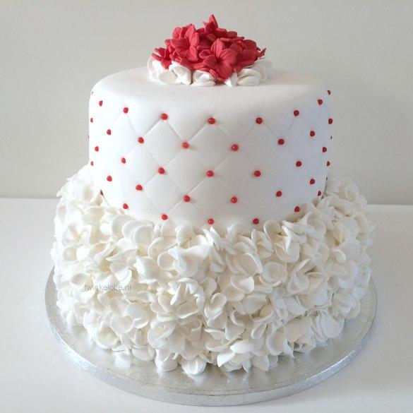 Bruidstaart rood-wit