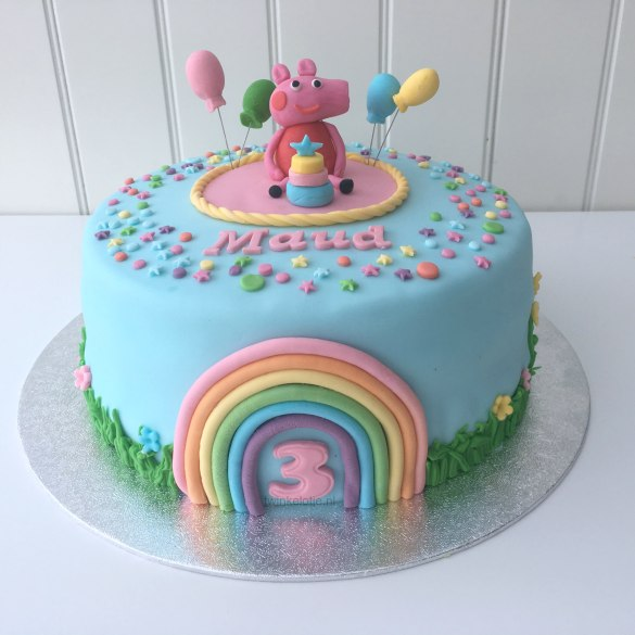 Peppa big taart