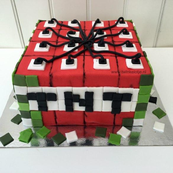 Minecraft TNT taart