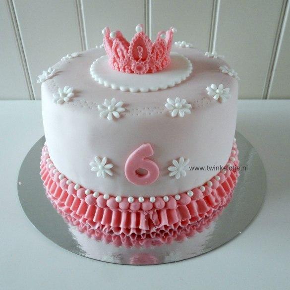 Prinsessentaart met klein kroontje