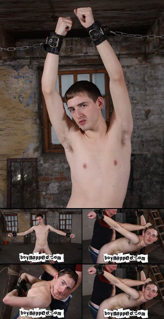 Assfucked twink in chains