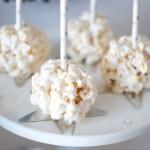 {Oscar Party Ideas} Marshmallow Popcorn Balls