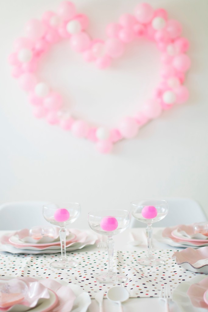 crack open the bubbly and have some prosecco pong fun on Valentine's Day