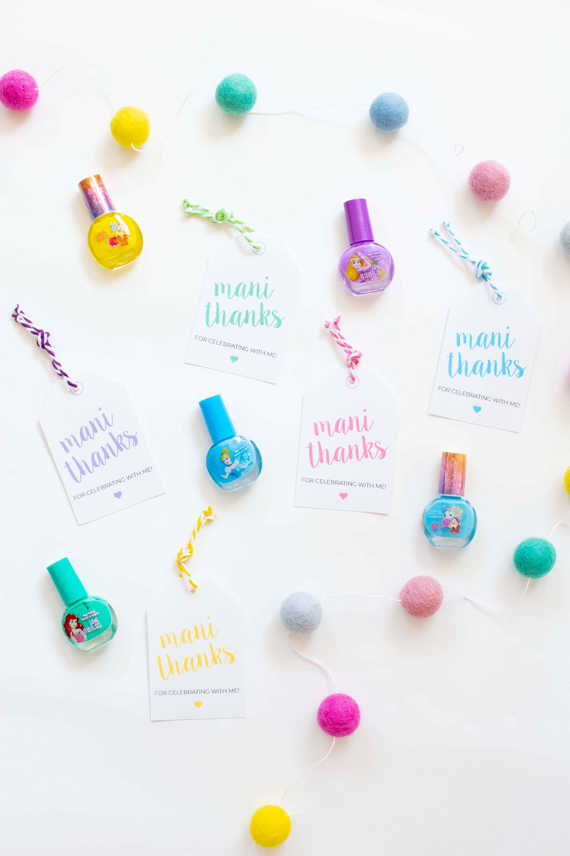 photo regarding Mani Thanks Free Printable titled Disney Princess Celebration Favors + Free of charge Printable Tags TownleyGirl