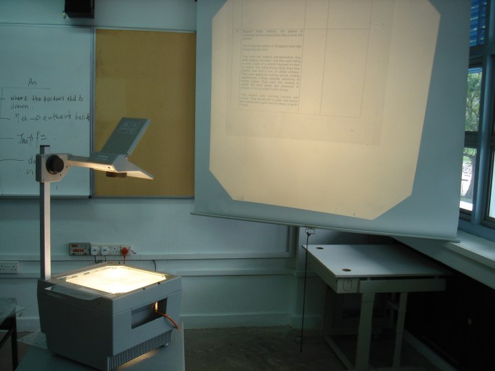 Classroom Equipment: An Overhead Projector