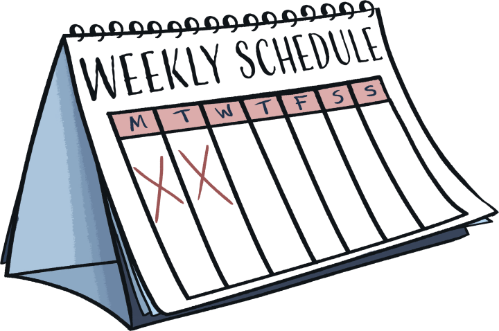 home learning: a weekly calendar