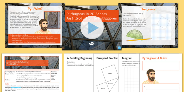 Lesson pack on Pythagoras' Theorem