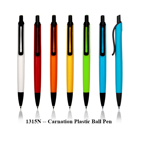 1315N — Carnation Plastic Ball Pen