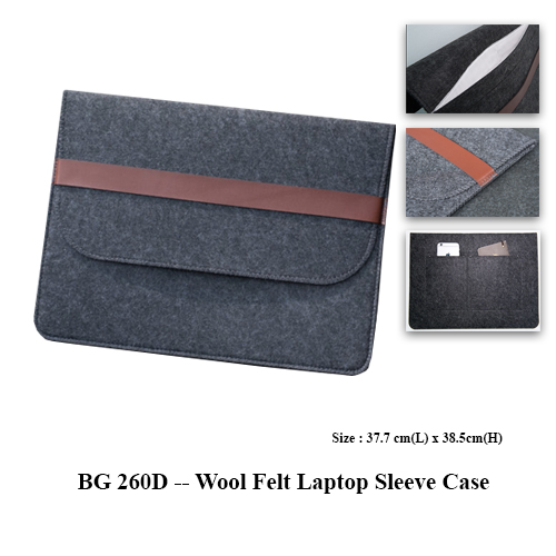 BG 260D — Wool Felt Laptop Sleeve Case
