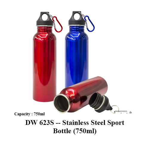 DW 623S — Stainless Steel Sport Bottle (750ml)